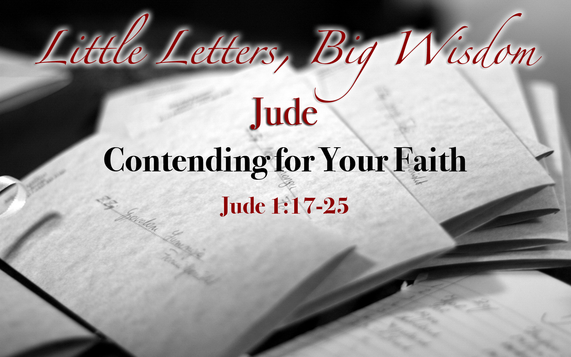 Contending for Your Faith