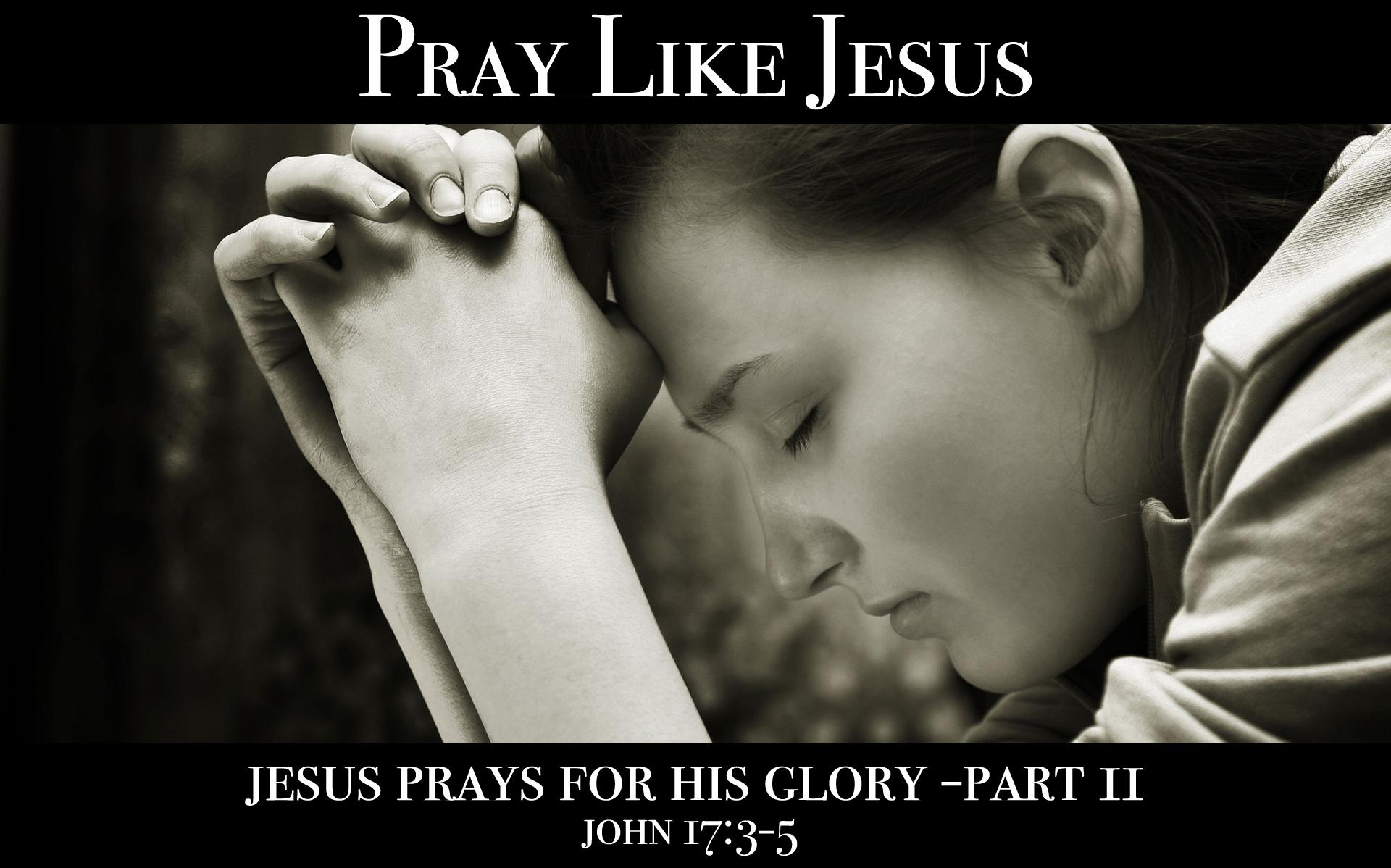 Jesus Prays for His Glory (Part 2)