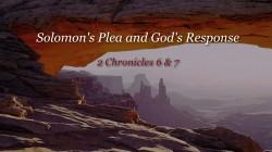 Solomon's Plea and God's Response